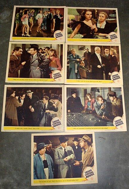 GRAND CENTRAL MURDER LOBBY CARD SET 1942 GRAND CENTRAL STATION, NY: Metro-Goldwyn-Mayer