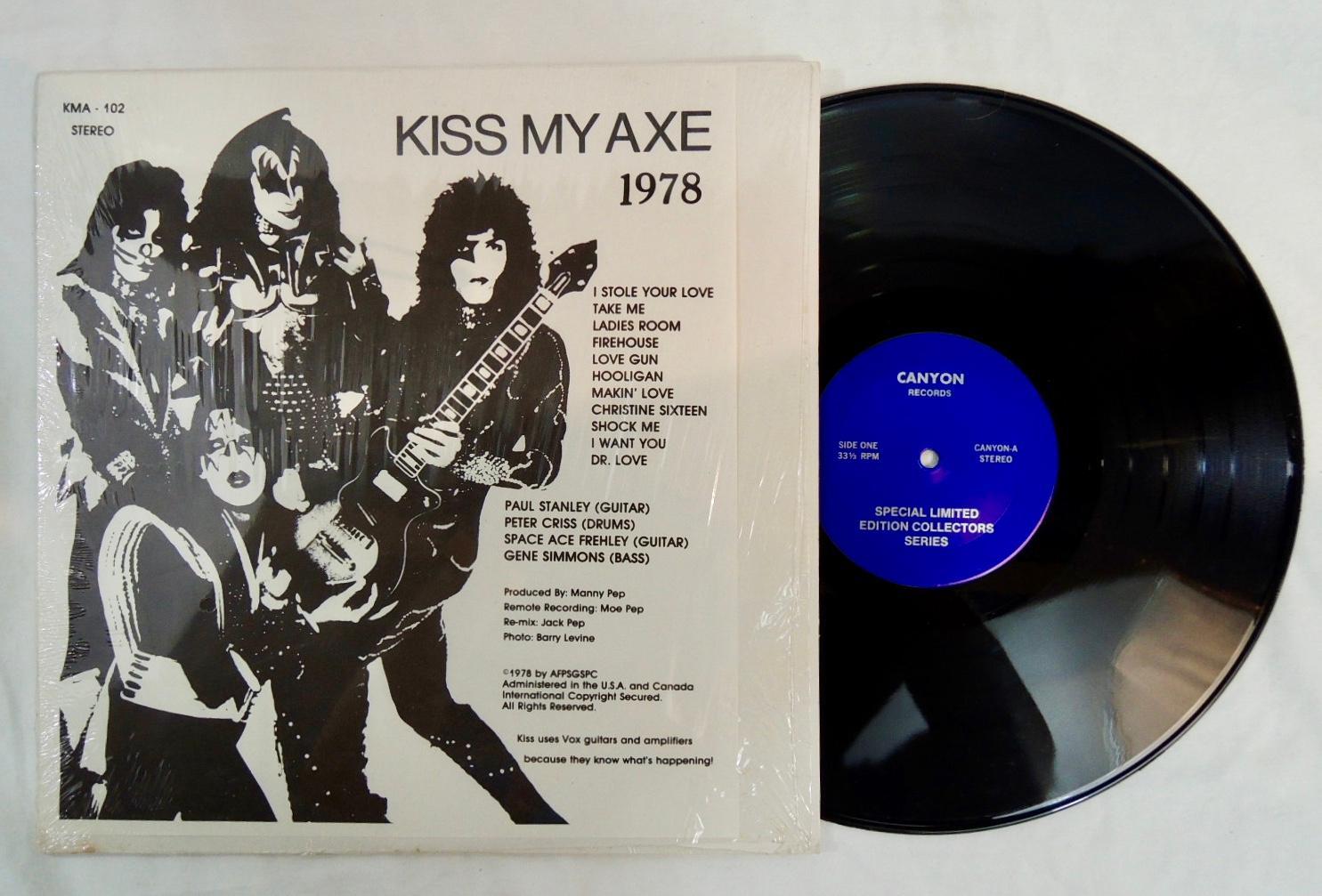 stili freschi estremamente unico alta moda Rare Kiss, Kiss My Axe 1978 Canyon Records ...