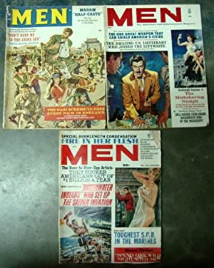 Lot of 3 Vintage 1959 - 1964 MEN Magazines (war, girls)