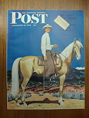 Saturday Evening Post September 18, 1943 cowboy
