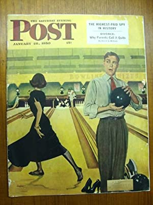 Saturday Evening Post January 28, 1950 bowling date