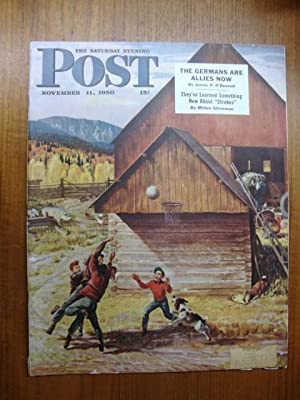 Saturday Evening Post November 11, 1950 basketball