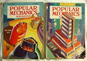 2 Popular Mechanics Magazines July 1933 - Dec. 1933