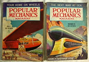 2 Popular Mechanics Magazines March - Dec. 1936