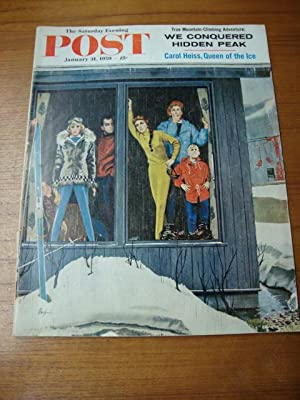 Saturday Evening Post January 31, 1959 snow ski
