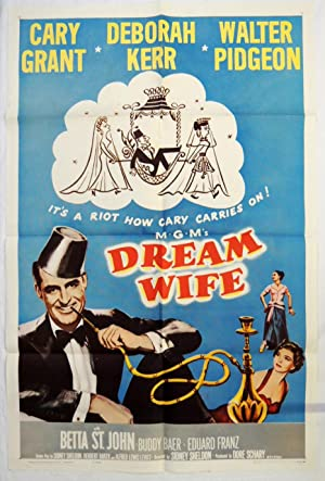 Orig. 'Dream Wife' Movie Poster 1961 Cary Grant, Deborah Kerr, Sidney Sheldon