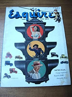 Esquire, June 1949 1949 auto show supplement
