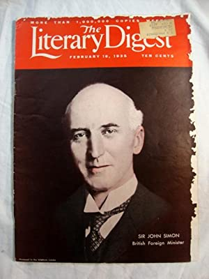 Literary Digest, Feb 16, 1935 Sir John Simon, British Foreign Minister