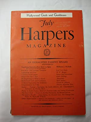 Harper's Magazine - July 1936 Hollywood's gods and godesses
