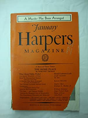 Harper's Magazine - January 1935 Chinese attitude toward Graft by Pearl S. Buck