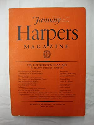 Harper's Magazine - January 1931 yes, but religion is an art; on the eating of worms