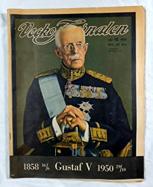 Vecko Journalen Nov. 1950 Gustav V King of Sweden 1858-1950 Stockholm