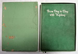 From Day To Day With Kipling by Wallace Rice 1911 forest green suede leather w/ box: Kipling, ...