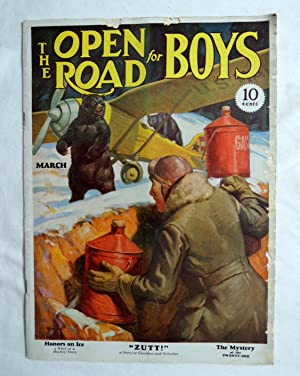Open Road for Boys March 1932 Zutt Gasoline & Grizzly Bears; W. Eaton cover