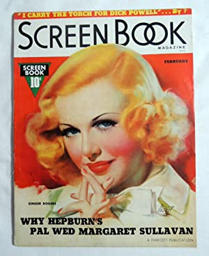 Screen Book Original Magazine February 1937 with Ginger Rogers cover