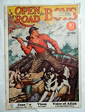 Open Road for Boys Magazine June 1934 River Raft with Dogs Cover