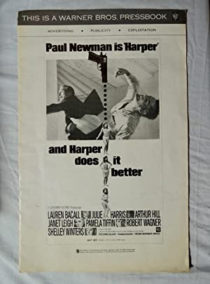 HARPER Movie Pressbook 1966 Paul Newman, Lauren Bacall, Julie Harris