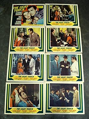 THE LIGHT TOUCH-LOBBY CARD SET 1951 GEORGE SANDERS, RICHARD BROOKS
