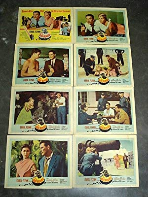 THE BIG BOODLE - LOBBY CARD SET 1957 Errol Flynn; Set in Havana, Cuba