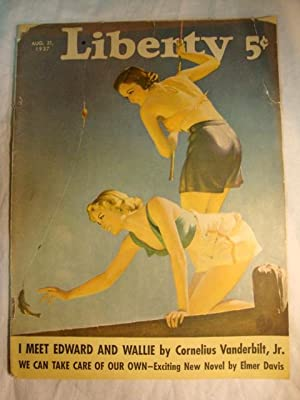 Liberty Magazine - August 21, 1937 Fishing cover