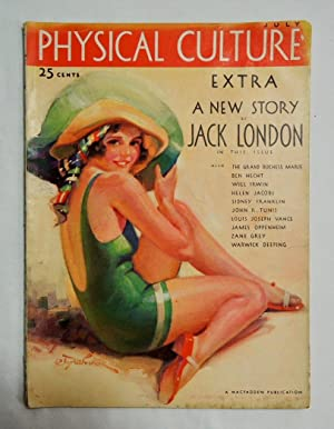 Physical Culture July, 1931 Jack London Poppy Cargo Good Girl art; Zane Grey