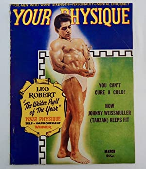 Your Physique Magazine March 1948 Leo Robert; Johnny Weissmuller (Tarzan)