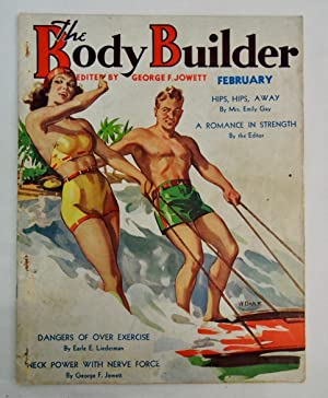 Body Builder Magazine February 1937 Water Skiing cover art by W. Darr