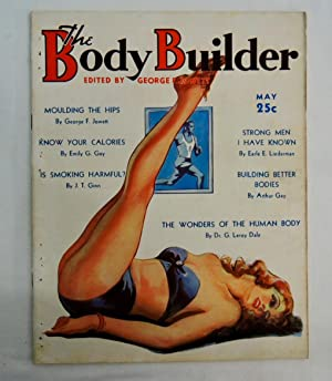 THE BODY BUILDER-MAY 1937-SPICY GOOD GIRL ART COVER-KAY HUGHES PHOTO-PULP T VF