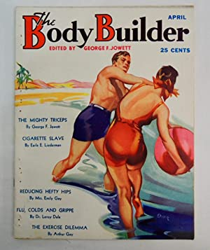 Body Builder Magazine April 1937 Beach ball scene cover art by W. Darr