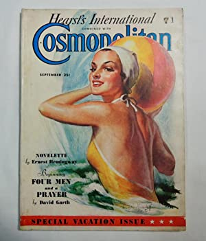 Cosmopolitan Magazine September 1936 1st Printing of Ernest Hemingway