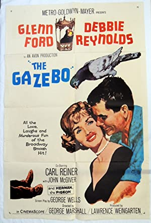'THE GAZEBO' MOVIE POSTER GLENN FORD DEBBIE REYNOLDS 1960 CARL REINER