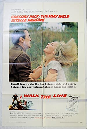 JOHNNY CASH 1970 Original 'WALK the LINE' MOVIE POSTER GREGORY PECK