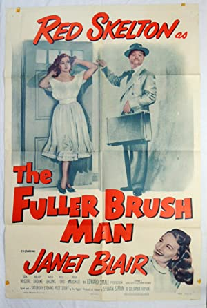 Original RED SKELTON 'FULLER BRUSH MAN' 1953 MOVIE POSTER JANET BLAIR COLUMBIA PICTURES