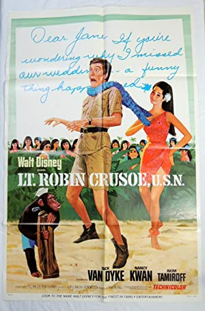 Original 'LT. ROBINSON CRUSOE' 1966 DICK VAN DYKE MOVIE POSTER DISNEY