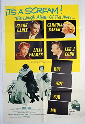 Original 'BUT NOT FOR ME' 1959 MOVIE POSTER; CLARK GABLE; ELLA FITZGERALD; GERSHWIN
