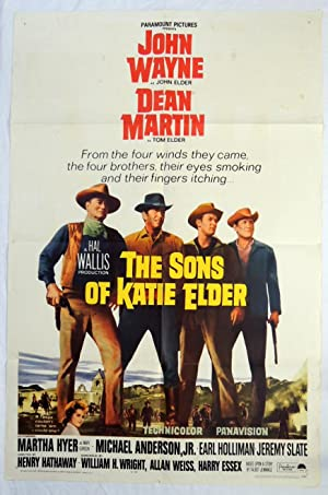 Original 'Sons of Katie Elder' Movie Poster John Wayne, Dean Martin 1965 Western Film