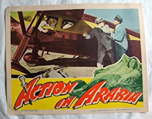 1944 'Action In Arabia' Lobby Card Movie Poster George Sanders, Virginia Bruce, Gene Lockhart