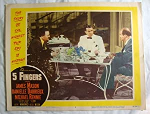 Five 5 Fingers Lobby Card 2 James Mason