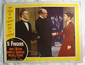 Five 5 Fingers Lobby Card 4 James Mason