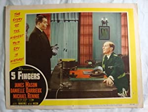Five 5 Fingers Lobby Card 6 James Mason