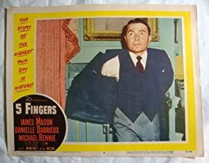 Five 5 Fingers Lobby Card 8 James Mason 1952 Danielle Darrieux, Otto Lang & Michael Rennie