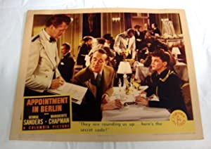 Appointment In Berlin Lobby Card 1 1943 Marguerite Chapman, Onslow Stevens