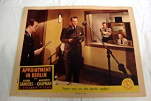 Appointment In Berlin Lobby Card 3 1943 Marguerite Chapman, Onslow Stevens
