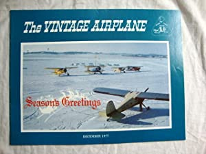 Vintage Airplane Magazine December 1977 Christmas plane cover