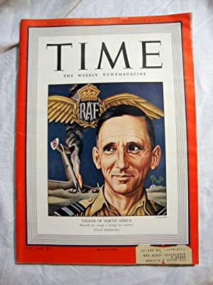 Time Magazine November 9, 1942 (Air Chief Marshall Sir Arthur Tedder Cover)