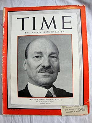 Time Magazine (August 6, 1945, Clement Attlee)