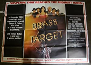 Original 'Brass Target' Huge 3-Sheet Movie Poster Sophia Loren, John Cassavetes