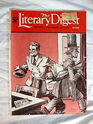 Literary Digest Nov 18, 1933 Prohibition Temperance Cover