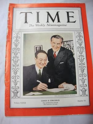 Time magazine Sept 12, 1938 Cohen - Corcoran