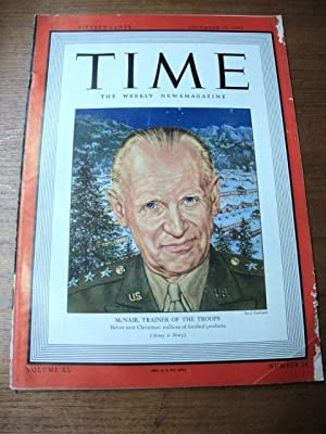 Time Magazine Dec 28, 1942 McNair trainer of the troops